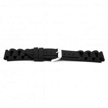 Klockarmband Gummi 18mm Svart EX K6 32 61 18