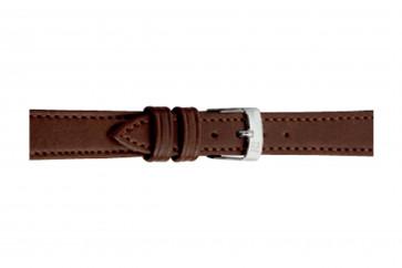Morellato klockarmband Point Grana ECO D0112419034CR08 / PMD034POINTE08 Mjukt läder Mörk brun 8mm + default sömmar