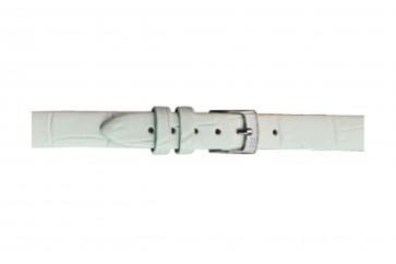 Morellato klockarmband Thin D2860656017CR06 / PMD017THINA06 Krokodil läder Vit 6mm