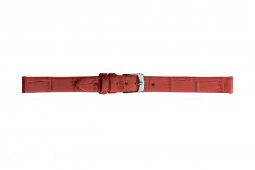 Morellato klockarmband Thin D2860656083CR06 / PMD083THINA06 Krokodil läder Röd 6mm