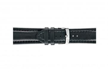 Morellato klockarmband Wide U4026A37019CR28 / PMU019WIDE28 Mjukt läder Svart 28mm + default sömmar