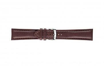 Morellato klockarmband Wide U4026A37034CR26 / PMU034WIDE26 Mjukt läder Mörk brun 26mm + default sömmar