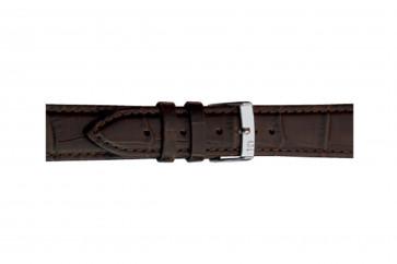 Morellato klockarmband Bolle X2269480032CR12 / PMX032BOLLE12 Krokodil läder Mörk brun 12mm + default sömmar