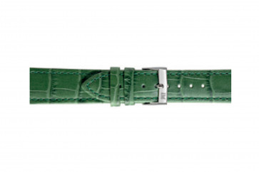 Morellato klockarmband Bolle X2269480075CR24 / PMX075BOLLE24 Krokodil läder Grön 24mm + default sömmar