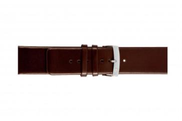 Morellato klockarmband Large X3076875032CR28 / PMX032LARGE28 Mjukt läder Mörk brun 28mm