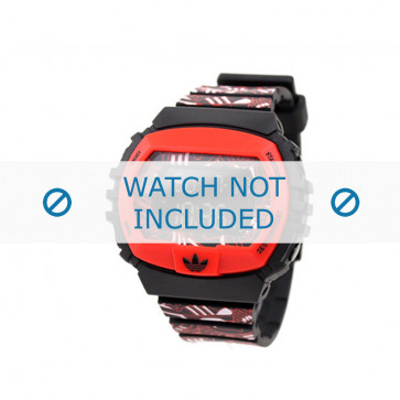 Adidas klockarmband ADH6128 Silikon Rött 16mm