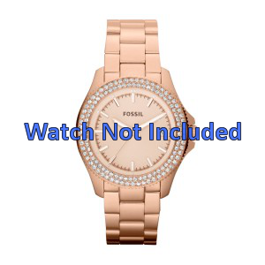 Fossil klockarmband AM4454 Stål Guld (Rosé) 18mm
