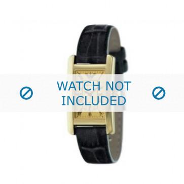 Klockarmband Armani AR0123 Läder Svart 18mm