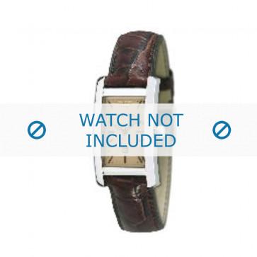 Armani klockarmband AR-0125 Krokodil läder Brun 18mm