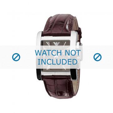 Klockarmband Armani AR0185 Läder Brun 28mm