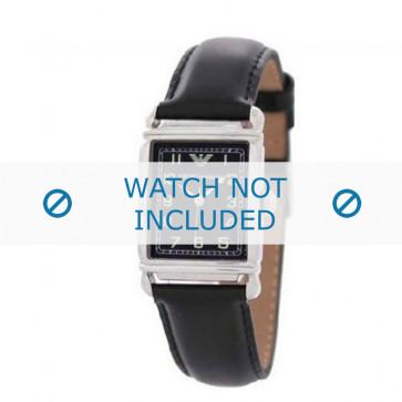 Klockarmband Armani AR0207 / AR0101 / AR0121 / AR5601 / AR0604 Läder Svart 18mm