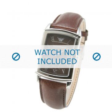Armani klockarmband AR0237 Läder Brun 21mm