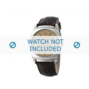 Klockarmband Armani AR0264 Läder Brun 24mm