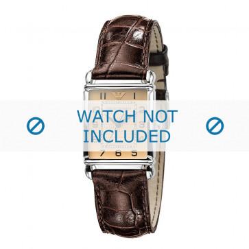 Klockarmband Armani AR0404 Läder Brun 18mm
