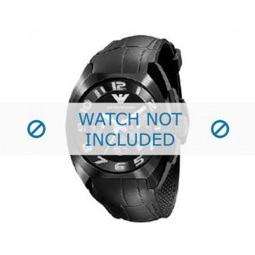 Klockarmband Armani AR5846 Gummi Svart 22mm