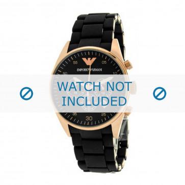 Klockarmband Armani AR5905 Gummi Svart 22mm