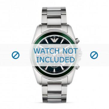 Armani klockarmband AR6090 Rostfritt stål Ilverfärgad 23mm
