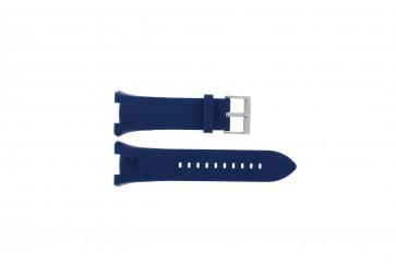 Armani klockarmband AX-1041 Gummi Ljusblå 21mm