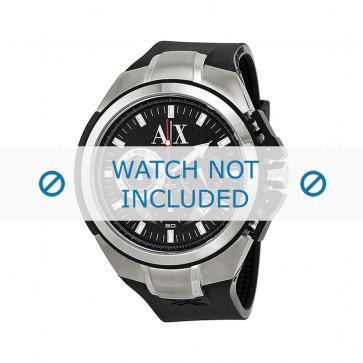 Armani klockarmband AX1042 Silikon Svart 32mm