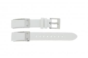 Armani klockarmband AX5300 Läder Vit 16mm