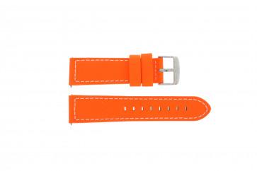 Davis klockarmband B0262 Läder Apelsin 22mm