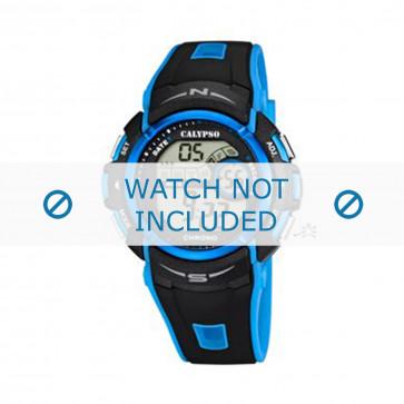 Klockarmband Calypso K5610.6 Gummi Blå 24mm