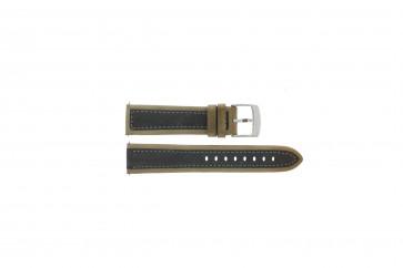 Camel klockarmband 5320-5329 / 5390-5399 Läder Brun 22mm + sömmar grå