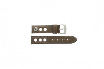 Camel klockarmband 3120-3129 / 3520-3529 Läder Brun 22mm + sömmar brun