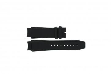 Dolce & Gabbana klockarmband 3719770097 Läder Svart 20mm + sömmar svart