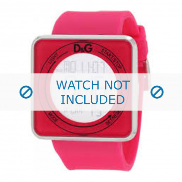 Dolce & Gabbana klockarmband DW0737 Gummi / plast Rosa 28mm