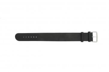 Danish Design klockarmband IV13Q676 / IV12Q676 Läder Svart 24mm