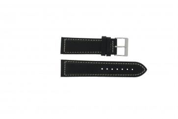 Davis klockarmband BB0450 / BB0454 Läder Svart 24mm