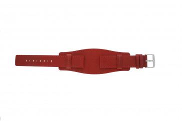Davis klockarmband B0223 Läder Rött 20mm
