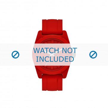 Diesel klockarmband DZ1589 Silikon Röd 24mm