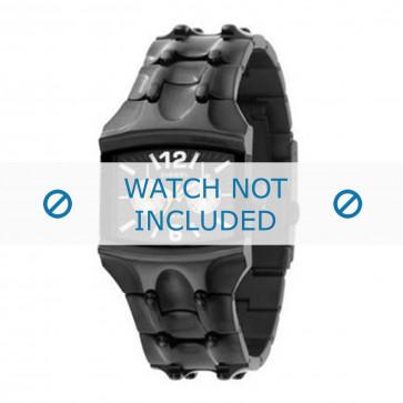 Diesel klockarmband DZ4127 Rostfritt stål Svart 25mm