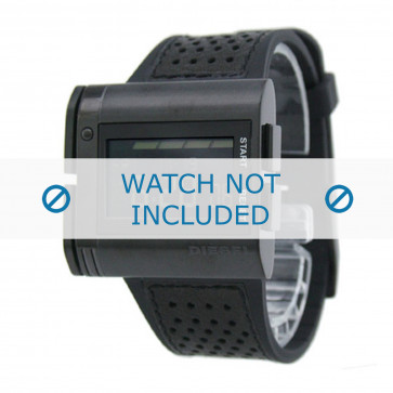Diesel klockarmband DZ7145 Silikon Svart 26mm