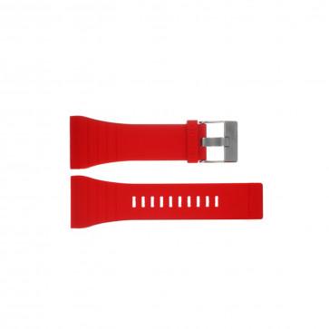 Diesel klockarmband DZ7198 Silikon Röd 30mm