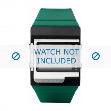 Diesel klockarmband DZ7212 Silikon Grön 23mm