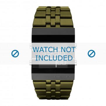 Diesel klockarmband DZ7228 Rostfritt stål Grön 35mm