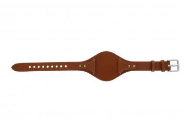 Fossil klockarmband ES3837 Läder Apelsin 18mm