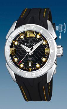 Klockarmband Festina F16505/5 Gummi Svart 26mm