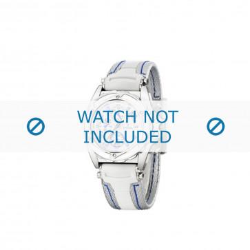 Festina klockarmband F16274.1 Gummi / plast Vit 18mm + sömmar blå