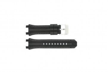 Festina klockarmband F16350/A Gummi Svart 23mm + sömmar grå
