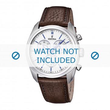 Klockarmband Festina F16779-2 / F16784-1 Läder Brun 24mm