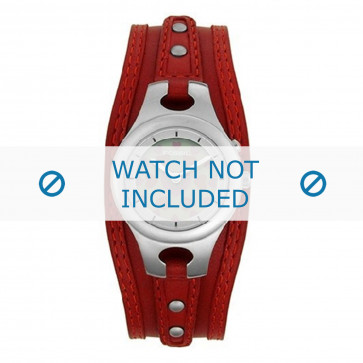 Fossil klockarmband ES9739 Läder Röd