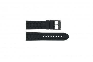 Klockarmband Fossil FS4487 / FS4628 / FS4605 / JR1425 Silikon Svart 24mm