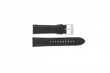 Fossil klockarmband FS4672 Läder Svart 22mm + default sömmar