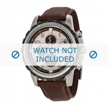 Klockarmband Fossil FS4828 / FS4829 Läder Brun 22mm
