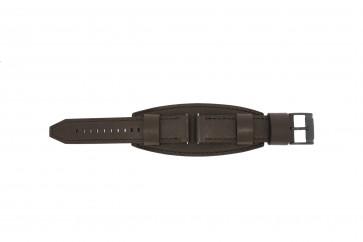 Fossil klockarmband JR1365 Läder Mörk brun 22mm