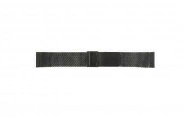 Davis klockarmband BB0812 Stål Svart 22mm